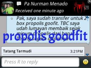 testimoni tbc, propolis untuk tbc